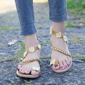 Vogue Women Sandals Nice Bohemia Flower Gladiator Sandals Women Casual Shoes Bea… – Shoes