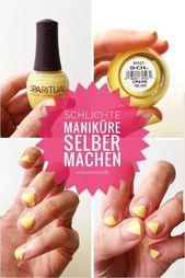 DIY Minimal Maniküre gelb – Einfaches Nageldesign für den Frühling – Nagelde …