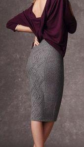 Jupe femme tricotée à la main, laine XS, S, M, L, XL, XXL Jupe longue tricotée à la …   – Stricken