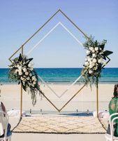 Beach ceremony inspiration – Paul Bamford #wedding #ceremony #backdrop #decor #f…