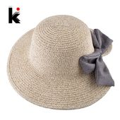 Summer Sweet Bow-knot Sun Hat For Women Crocheted Raffia Wide Brim Straw Cap Lad… – Aliexpress