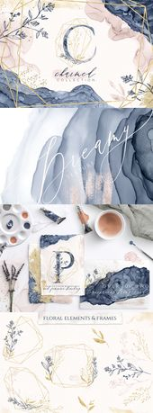 Illustrator Brushes Introducing Charmed - a delicate collection of lovingly handcrafted graphics inc...