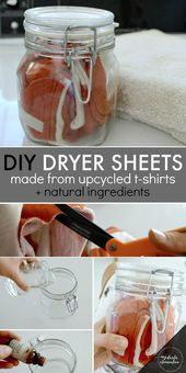 DIY Non-Toxic Dryer Sheets from Upcycled T-shirts …