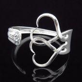 Fork bracelet, eco-friendly recycled silverware jewelry interlocking …