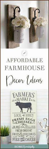 Diese erschwinglichen DIY-Bauernhausideen sind perfekt für …