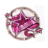 Starlette temporary tattoo design – 2×3 inch – cute stuff