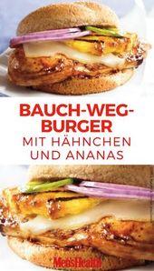 Bauch-weg-Burger mit Hähnchen