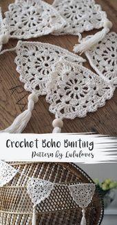 Häkelanleitung Boho Bunting: Lulu Loves Crochet Blog
