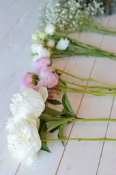Hochzeitsstrauß mit Pfingstrosen Krawatte – Rosa Hochzeit Teil 1   – Blumen