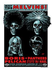 The Melvins 2007 Concert Poster by Justin Hampton