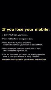 If You Lose Your Mobile Phone.
