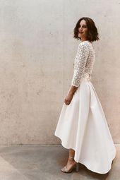 Brautkleid Zweiteiler mit modernem, langärmeligem…