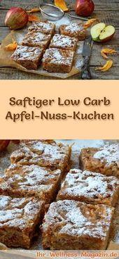 Pastel de nuez de manzana bajo en carbohidratos rápido y jugoso: receta sin azúcar   – Food