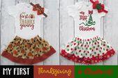 Babys erstes Weihnachtsgeschenkset – erstes Erntedankfest, erstes Weihnachtsfest, Babyparty …   – Baby