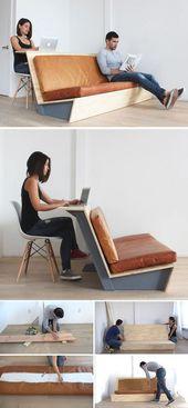 Ce tutoriel pour un canapé DIY moderne vous montre comment faire un canapé avec un canapé