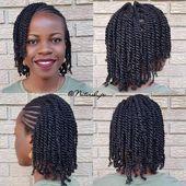 schwarze Frisuren für runde Gesichter #Blackhairstyles