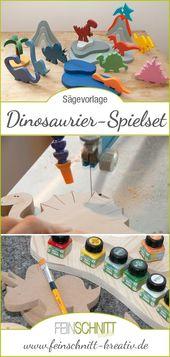 Dinosaurier-Spielset aus Holz