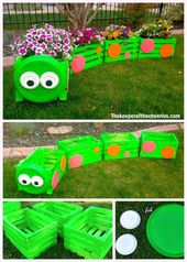 DIY Caterpillar Wood Crate Train Planter Tutorial …