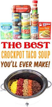Simple Crockpot Taco Soup Recipe! {Fast Prep}