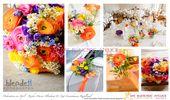 Konzept Orange Rosa Gelb Blau Lila Vergissmeinnicht Frühling April Hochzeit …   – Blumen