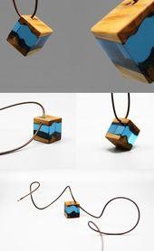 Holz harz halskette handgefertigte einzigartige schmuck für frauen männer #ei… – jewelryimages