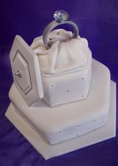 Engagement Cake by ~Verusca   – Cake