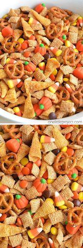 Receta de video de Halloween Harvest Hash Chex Mix   – Snacks und kleine Gerichte