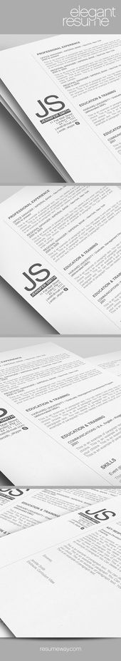 Elegant Resume Template - 110540 - Premium line of Resume \ Cover - resume layout template
