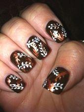 35 besten Nail Art Designs Kollektion: Herbst Herbst Nail Art: Blätter Herbst Nägel ~ …   – espanpin