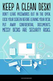 Keep A Clean Desk Clean Desk Risk Management Messy Desk
