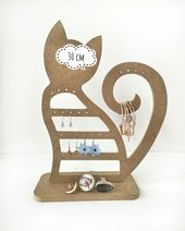 Wooden Earring Holder, Earring Organizer, Earring Stand, new year gift, Jewelry Stand, Wooden Earring Storage