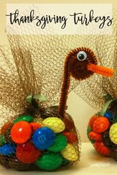 Candy Turkeys for Thanksgiving