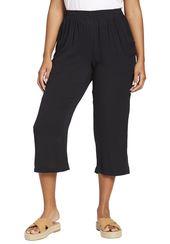 Petite crinkle capri beach pants – Women's Plus Size Clothing