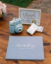 Love | Dusty Blue Wedding Guest Book – #Blue #Book…