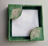 Napkin holder. Use Ginko leaf as image