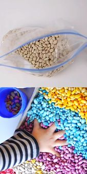 Scented Sensory Rainbow Beans – Greatest Sensory Bin Concept