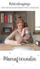 Verwaltungsverfahren vor und nach der Geburt // Checkliste   – Glücklich, mein Baby