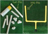 How to Make Mini Football Field Goal Posts | DIY Fotball Decorations