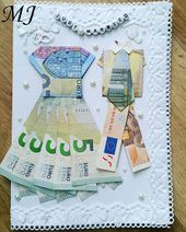 Meine kleine japanische Welt: Geldscheine falten – DIY Hochzeitskarte mit Jungvermählten …   – Kreativ
