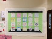 iPad bulletin board I helped a friend make. Most of the apps were made by students.