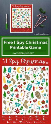 Free I Spy Christmas Printable Game – Christmas Printables