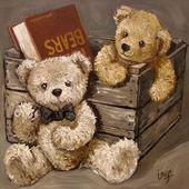 Baby Ilustration Vintage Teddybär  #teddybar #vintage