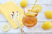 Schlürfen Sie in der Art: Zitronen-Eistee