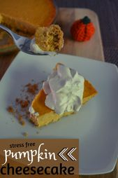 Pumpkin cheesecake without a springform pan is an easy fall dessert. Top with a …