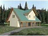 Bernsteins Lieblingsgrundrisse Carroll Cove Saltbox Cabin Home von houseplansand …   – House Plans