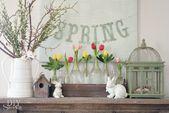 DIYShowOff Spring Mantel