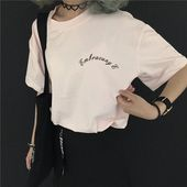 Korea ulzzang harajuku fashion print t shirt 2018 summer new cute madonna loose short sleeve t shirt women