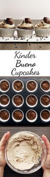 Kinder-Bueno-Cupcakes: así es como funciona   – Rezepte