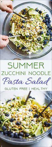 Summer Zucchini Noodle Pasta Salad – This Gluten Freezucchini Noodle Pasta Salad…
