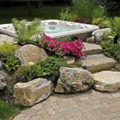 Do you like this built in look for a hot tub surround? – Outdoor spaces
